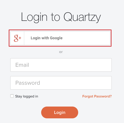 Google Login/Sign-Up – Quartzy Support
