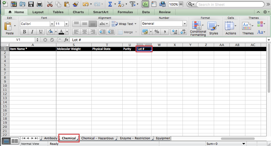 Add Types And Custom Fields To Quartzy Using The Excel Template
